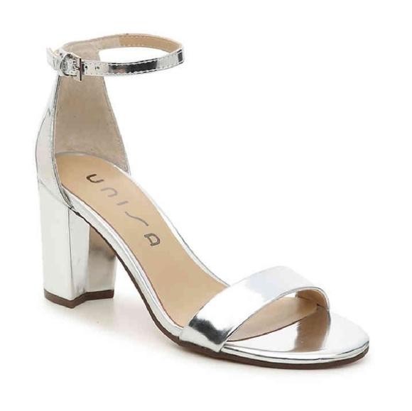 Unisa Daeicy Silver Block Heel Ankle